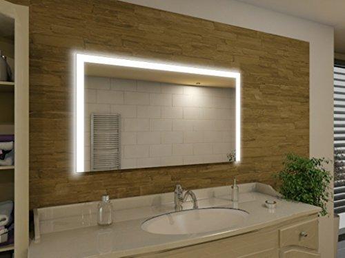 seattle m91l3 badspiegel mit beleuchtung design spiegel f r badezimmer beleuchtet mit led. Black Bedroom Furniture Sets. Home Design Ideas