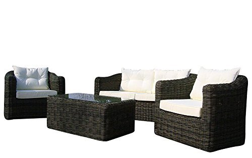baidani gartenm bel sets 10a00009 designer rattan essgruppe pearl tisch mit glasplatte 2 er. Black Bedroom Furniture Sets. Home Design Ideas