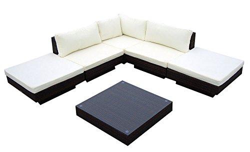baidani gartenm bel sets designer rattan lounge sunqueen 1 sofa 1 beistelltisch. Black Bedroom Furniture Sets. Home Design Ideas