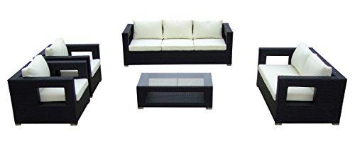 baidani gartenm bel sets designer lounge garnitur seaside 3 er sofa 2 er sofa. Black Bedroom Furniture Sets. Home Design Ideas