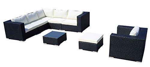baidani gartenm bel sets designer lounge liege gardendream ecksofa 1 sessel 1. Black Bedroom Furniture Sets. Home Design Ideas