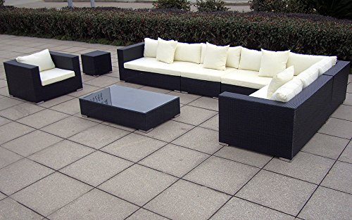 baidani gartenm bel sets designer lounge garnitur blizzard xxl sofa sessel. Black Bedroom Furniture Sets. Home Design Ideas