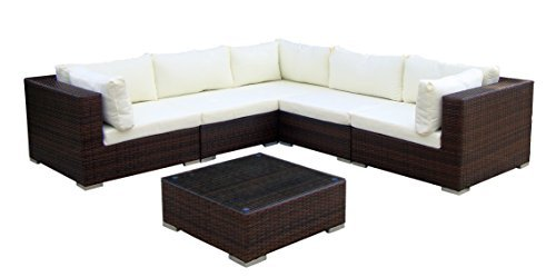 baidani gartenmbel sets 10c0001700002 designer lounge xxl sofa sunshine sofa beistelltisch braun. Black Bedroom Furniture Sets. Home Design Ideas