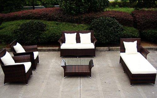 baidani gartenm bel sets designer lounge garnitur royalty 2 er sofa 1. Black Bedroom Furniture Sets. Home Design Ideas