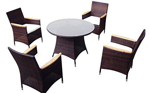baidani balance rattan lounge essgruppe schwarz 102 x. Black Bedroom Furniture Sets. Home Design Ideas