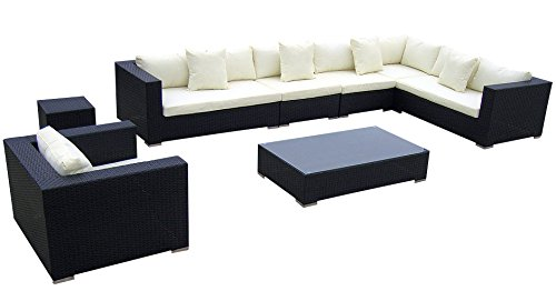 Baidani rattan lounge garnitur blizzard 25 teilig for Exclusive esszimmertische