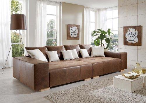 Big Sofa Tuscania Antik - Italienisches Annilinleder - Made in Germany - Freie Farbwahl ohne Aufpreis aus 8 Lederfarben – Nahezu jedes Sondermaß möglich! Sprechen Sie uns an. Info unter 05226-9845045 oder info@highlight-polstermoebel.de