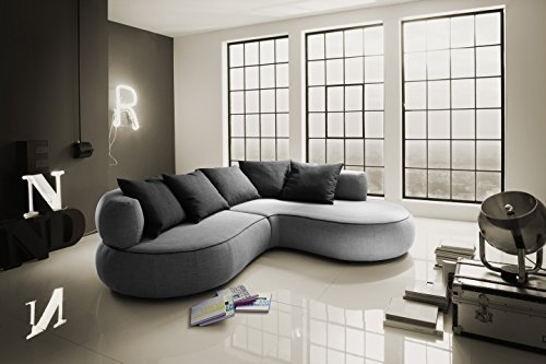 bigsofa ecksofa stoff java grau m bel24. Black Bedroom Furniture Sets. Home Design Ideas