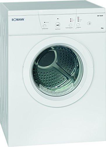 Bomann WT 5019 Ablufttrockner/6 kg/10 Trocken/1 Zeitprogramm und Zusatzoption/weiß