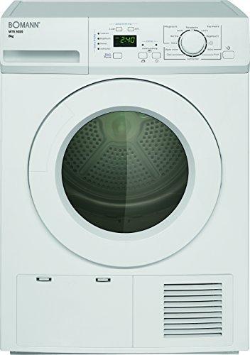 Bomann WTK 5020 Kondenstrockner / B / 8 kg / Elektronische Programmsteuerung / weiß