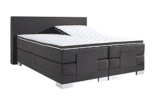 boxspringbett 180 x 200 cm elektrisch verstellbar monza farbe schwarz breite 180 x 200 cm m bel24. Black Bedroom Furniture Sets. Home Design Ideas