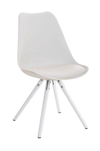 clp retrostuhl pegleg mit hochwertiger polsterung und kunstlederbezug i schalenstuhl mit. Black Bedroom Furniture Sets. Home Design Ideas