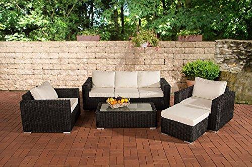 clp polyrattan lounge madeira inklusive polsterauflagen gartenm bel set bestehend aus einem. Black Bedroom Furniture Sets. Home Design Ideas