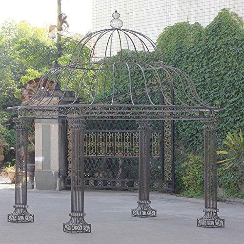 clp garten pavillon palais rund 3 70 meter h he 440 cm stabiles eisen metall schlichtes. Black Bedroom Furniture Sets. Home Design Ideas