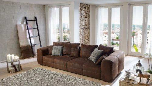 cavadore big sofa mavericco gro e polster couch mit mikrofaser bezug in antiker lederoptik. Black Bedroom Furniture Sets. Home Design Ideas