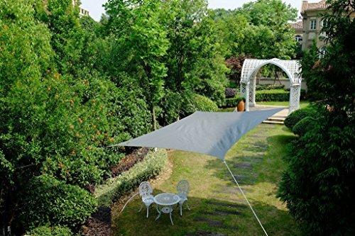 Cool Area Quadrat 5 x 5 m Sonnensegel Sonnenschutz Segel, UV Schutz für Balkon Terrasse Garten, graphit