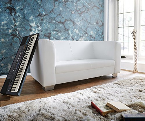 M bel24 m bel g nstig couch carlo verchromtes metall for Couch 160 cm