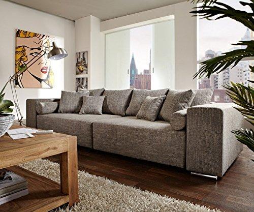 delife couch marbeya hellgrau 290x110 cm mit schlaffunktion big sofa m bel24 m bel g nstig. Black Bedroom Furniture Sets. Home Design Ideas