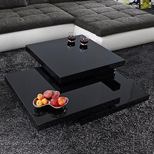 couchtisch cube schwarz hochglanz lack glas loungetisch. Black Bedroom Furniture Sets. Home Design Ideas