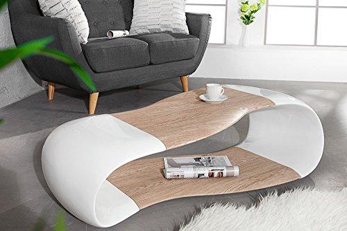 couchtisch stream weiss highgloss eiche 120 cm beistelltisch tisch m bel24. Black Bedroom Furniture Sets. Home Design Ideas