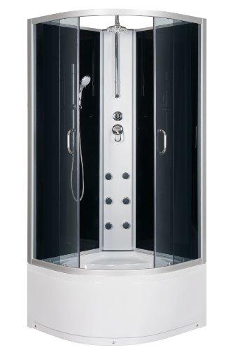 duschtempel fertigdusche duschkabine 90x90 echt esg glas eck komplett dusche hydromassage m bel24. Black Bedroom Furniture Sets. Home Design Ideas