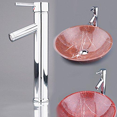 Wasserhahn Bad /Chrom Einhebel- Mischbatterie / Verchromt Wasserhahn Armatur Waschtischarmatur Wasserfall Einhandmischer für Badezimmer Waschbecken Mit DVGW W4