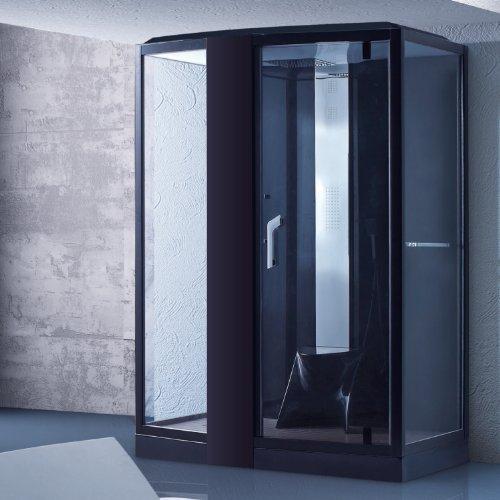 dampfdusche florence schwarz dampf dusche duschkabine dampfbad duschtempel dampfsauna. Black Bedroom Furniture Sets. Home Design Ideas