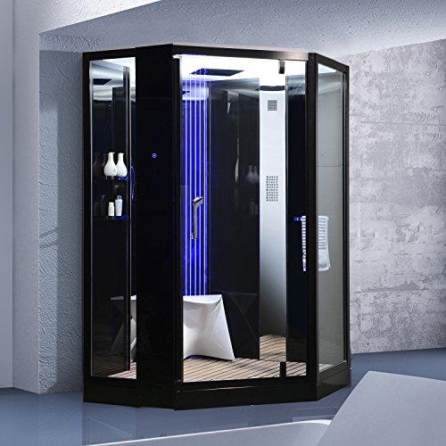dampfdusche monza schwarz dampf dusche duschkabine dampfbad duschtempel duschkabinett. Black Bedroom Furniture Sets. Home Design Ideas