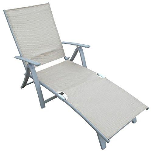 deckchair sonnenliege aus alu textilgewebe. Black Bedroom Furniture Sets. Home Design Ideas