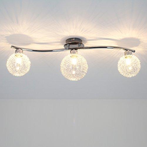 Deckenleuchte ramon 3 flammig modern deckenlampe for Wohnzimmer lampe 6 flammig