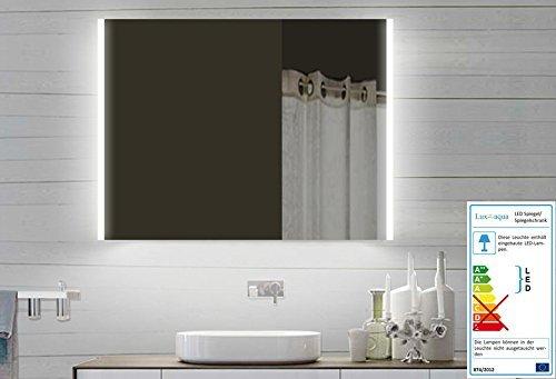 Lux-aqua Design LED Badezimmerspiegel Badspiegel Lichtspiegel mit Led Beleuchtung 80 x 60 cm