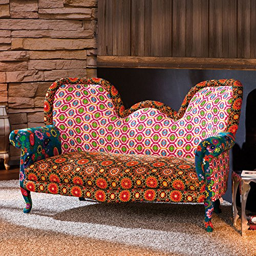 design sofa in bunt retro pharao24 m bel24. Black Bedroom Furniture Sets. Home Design Ideas