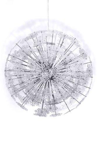 designer pendelleuchte aus verchromtem stahl und transparenten kunststoff schneeflocken. Black Bedroom Furniture Sets. Home Design Ideas