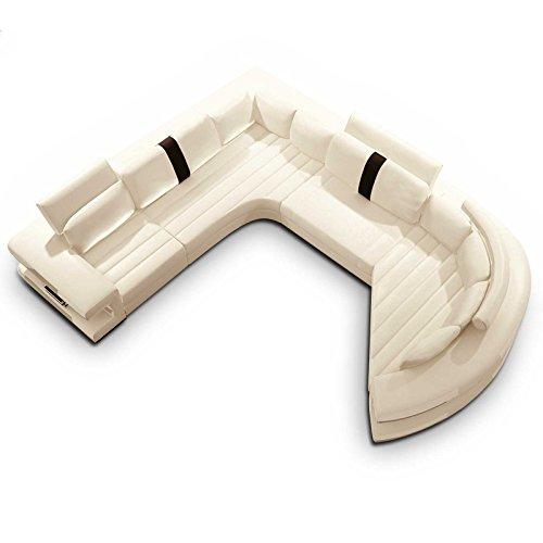 m bel24 m bel g nstig designer polsterecke valencia wei. Black Bedroom Furniture Sets. Home Design Ideas