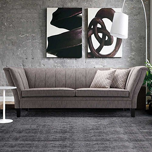 designer sofa in grau retro design pharao24 m bel24. Black Bedroom Furniture Sets. Home Design Ideas