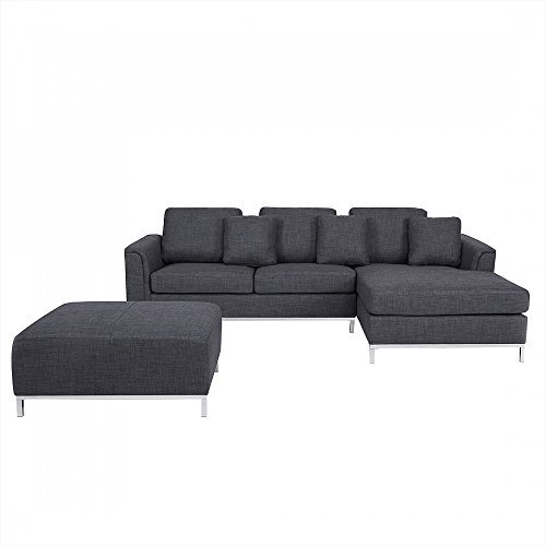 m bel24 m bel g nstig designersofa polstersofa sofa couch ecksofa l eckcouch grau oslo 0. Black Bedroom Furniture Sets. Home Design Ideas