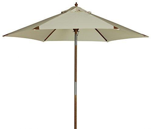 """Doppler Luxus Holzstockschirm """"Havanna Junior 240"""" mit Knicker in natur, UV-Schutz 50 Plus"""