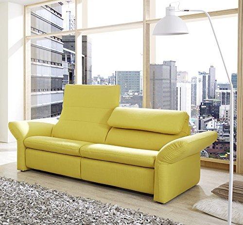 wohnzimmer sofa günstig: 3er Polstersofa 'Lemone', Sofa, Wohnzimmer, gelb, Rückenfunktion