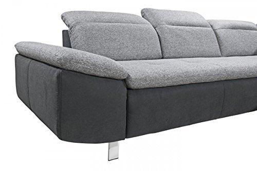 dreams4home 3er sofa 39 side 39 sofa polstersofa couch r ckenlehne einzeln verstellbar. Black Bedroom Furniture Sets. Home Design Ideas