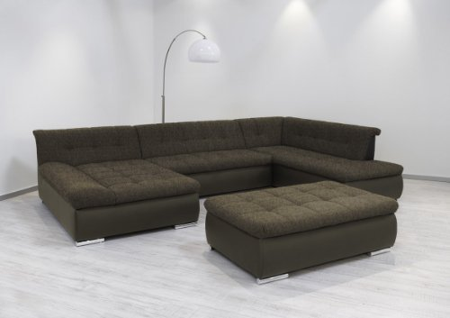 dreams4home polsterecke aulis sofa wohnlandschaft ecksofa xxl couch schlaffunktion cappucino. Black Bedroom Furniture Sets. Home Design Ideas