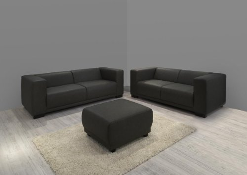 dreams4home polstergarnitur barce set 3 sitzer 2 sitzer sofa couch kunstleder grau wahlw. Black Bedroom Furniture Sets. Home Design Ideas
