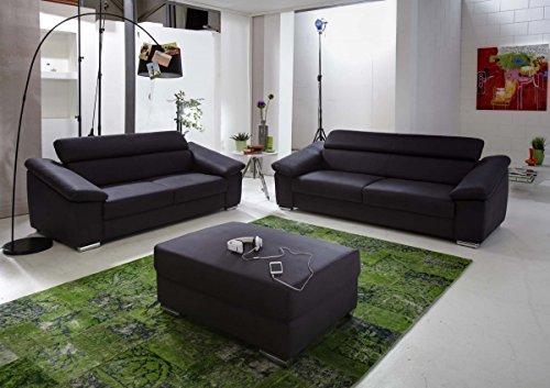 Dreams4home polstersofa venice i sofa wohnzimmer anthrazit grau 2er element 3er couch - Wohnzimmer anthrazit ...