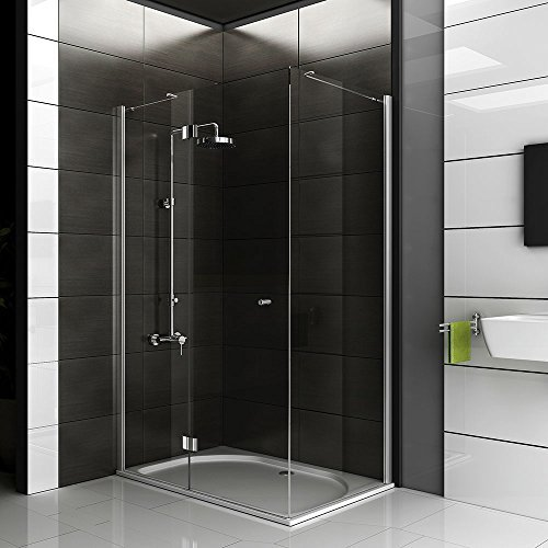 duschabtrennung echtglas eck dusche dusche ca 120 x 80 x 200 cm duschkabine rahmenlos. Black Bedroom Furniture Sets. Home Design Ideas