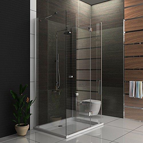 m bel24 dusche duschkabine u form duschabtrennung 6 mm easy clean glas 90x120x195 0. Black Bedroom Furniture Sets. Home Design Ideas