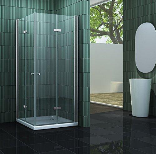 duschkabine space 90 x 90 x 195 cm ohne duschtasse m bel24. Black Bedroom Furniture Sets. Home Design Ideas