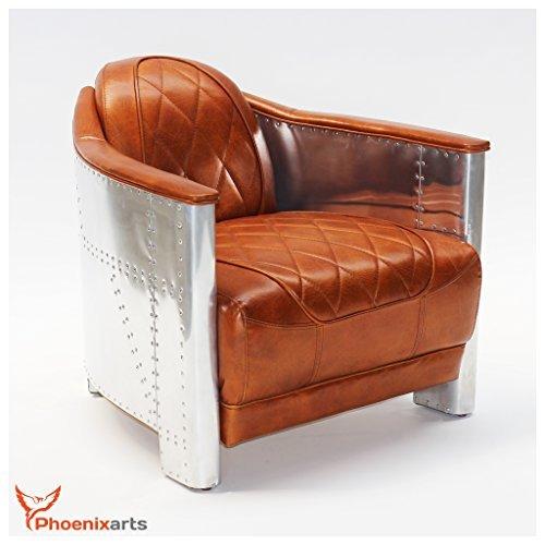 m bel24 m bel g nstig echtleder vintage alu aviator. Black Bedroom Furniture Sets. Home Design Ideas
