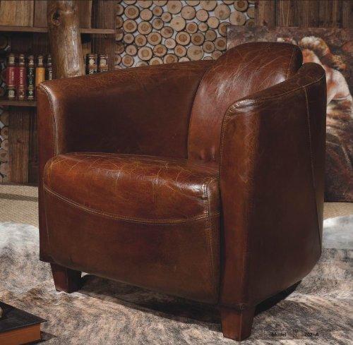 phoenixarts echtleder vintage sessel ledersessel braun design lounge clubsessel sofa m bel neu. Black Bedroom Furniture Sets. Home Design Ideas