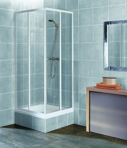 eckeinstieg duschkabine echtglas sicherheitsglas weisse profile 75x75 75x80 75x90 90x75 80x75. Black Bedroom Furniture Sets. Home Design Ideas