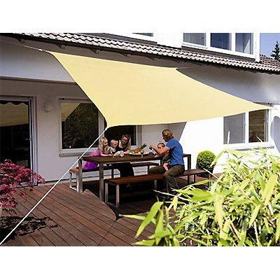 Eduplay Sonnensegel, 3x3m, Quadrat, beige