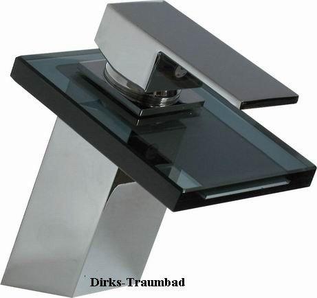 Elegante wasserfall armatur mit schwarzem glas m bel24 - Wasserfall armatur ...